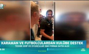 Ünal Karaman ve futbolculardan büyük sürpriz