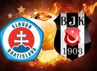 İşte Slovan Bratislava-Beşiktaş mücadelesinin ilk 11'leri
