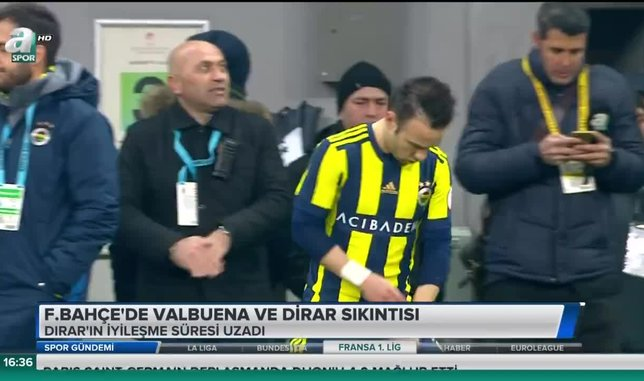 Fenerbahçe'de Valbuena ve Dirar sıkıntısı
