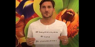 Totti'den Suriye çağrısı