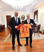 Galatasaray'dan Abdulhamit Gül ve Murat Kurum'a ziyaret