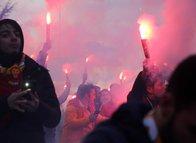 Bolu'da Galatasaray izdihamı yaşandı