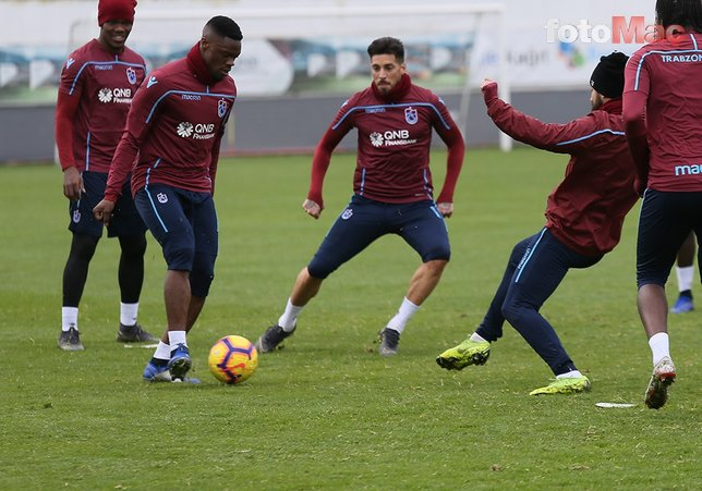 Trabzonspor Erzurumspor maçının hazırlıklarını tamamladı (15 Mart 2019)