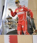 Bahreyn'de zafer Vettel'in