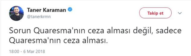 Quaresma 5 maç ceza aldı! Sosyal medya karıştı!