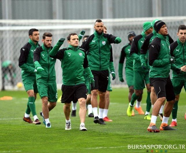 Bursaspor Malatyaspora hazırlanıyor.