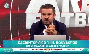 Gaziantep FK-Konyaspor maçında gerginlik! İşte koridorda yaşananlar