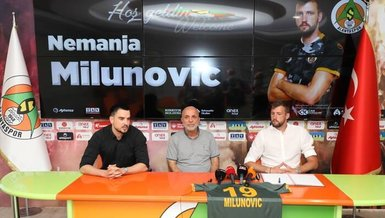 Son dakika spor haberi: Alanyaspor Nemanja Milunovic'i kadrosuna kattı! İşte detaylar...