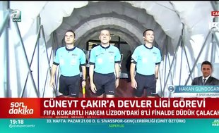 Cüneyt Çakır'a Şampiyonlar Ligi görevi