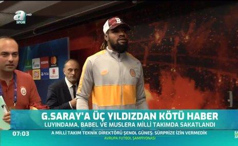 Galatasaray'da Luyindama da sakatlandı