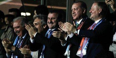 Cumhurbaşkanı Erdoğan, Başakşehir maçında