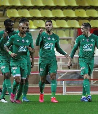 Sanit-Etienne deplasmanda Monaco'yu Fransa Kupası'ndan eledi