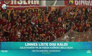Galatasaray'ın 28 kişilik kadrosu belli oldu