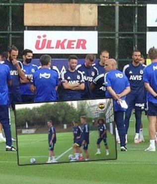Fenerbahçe'nin yeni transferi Barış Sungur antrenmanda!