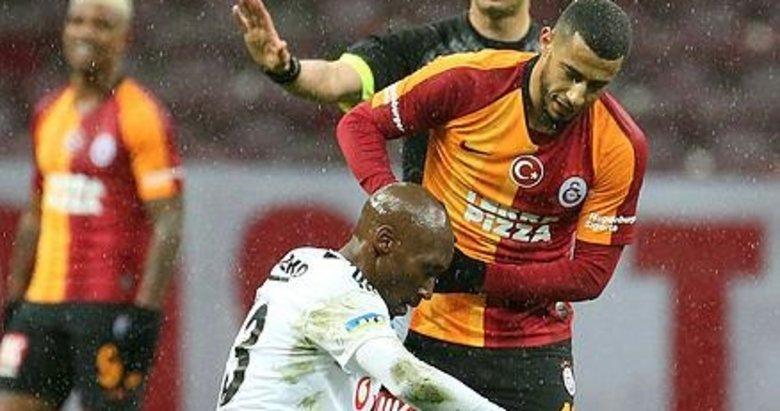 Galatasaray-Beşiktaş mücadelesinden kareler!