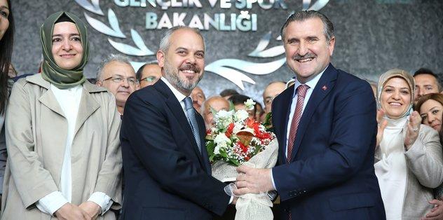 Gençlik ve Spor Bakanlığı'nda devir teslim töreni yapıldı