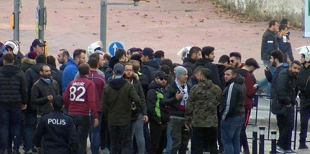 Trabzonsporlu taraftarlar arasında gerginlik çıktı