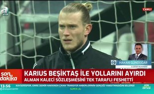 Loris Karius Beşiktaş ile olan sözleşmesini feshetti!