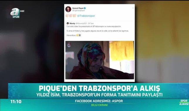 Pique'den Trabzonspor'a alkış