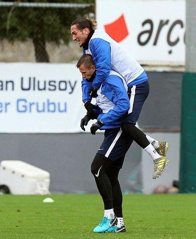 Trabzonsporda neşeli idman