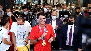 Son dakika spor haberi: Tokyo Olimpiyatları'nda altın madalya kazanan Mete Gazoz İstanbul'da