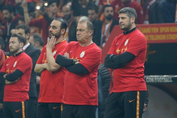 Galatasaray'ın tarihi antrenmanından kareler
