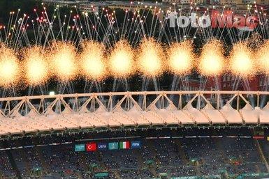 EURO 2020'ye açılış töreninden muhteşem kareler! Türkiye İtalya maçı öncesi açılış töreni gerçekleştirildi