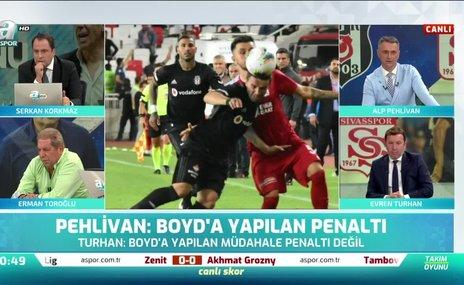 Ziya'nın Boyd'a müdahalesi penaltı mı? Toroğlu yorumladı