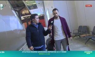 Merih Demiral ve Hakan Çalhanoğlu İstanbul'a geldi