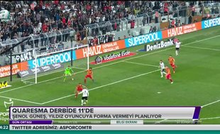 Quaresma derbide ilk 11'de