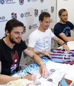 Trabzonspor'da Okay, Yusuf ve Pereira imza gününe katıldı