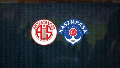Antalyaspor Kasımpaşa maçı ne zaman, saat kaçta ve hangi kanalda canlı yayınlanacak? İşte detaylar...