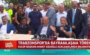 Trabzonspor'da bayramlaşma töreni!