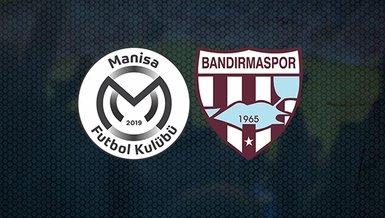 Manisa FK - Bandırmaspor maçı ne zaman? Saat kaçta? Hangi kanalda canlı yayınlanacak? İşte detaylar...