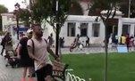 Barcelona'lı Rafinha Sultanahmet'te top oynadı!