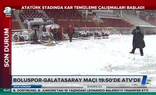Atatürk Stadı'nda temizleme çalışmaları başladı