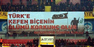 Kayseri'den anlamlı pankart!