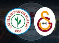 İşte Galatasaray'ın Çaykur Rizespor maçı 11'i!