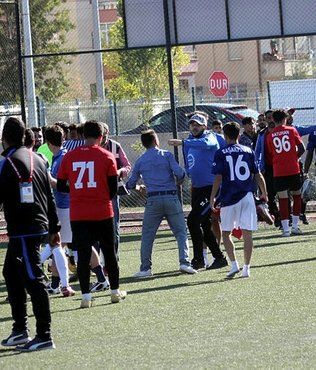 Yavuzspor ile Başakpınar Belediyespor maçı sonrası kavga çıktı