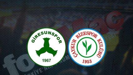 Giresunspor - Çaykur Rizespormaçı ne zaman, saat kaçta ve hangi kanalda canlı yayınlanacak?