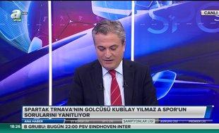 Spartak Trnava'nın golcüsü Kubilay Yılmaz: Spartak Trnava'yı destekliyorum