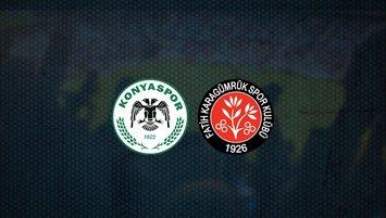 Konyaspor - Karagümrük maçı saat kaçta ve hangi kanalda?