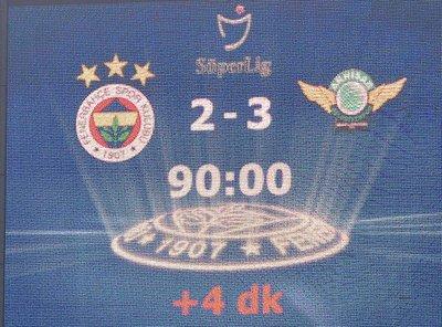 Fenerbahçe 2-3 TM Akhisarspor | DETAYLAR