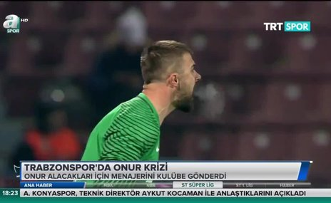 Trabzonspor'da Onur krizi