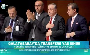 Galatasaray'da transfere yaş sınırı