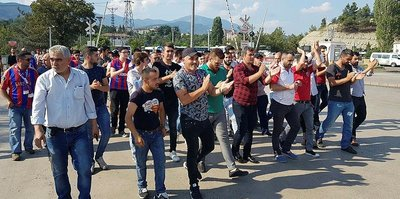 Taraftardan Karabükspor'a destek yürüyüşü