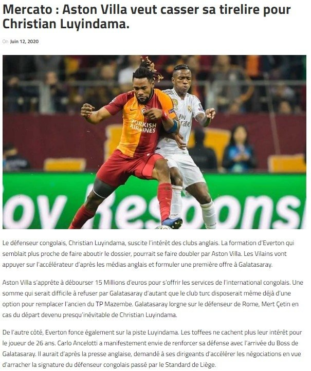 Galatasaray'a Luyindama piyagosu! Transfer için dev teklif... - Futbol -