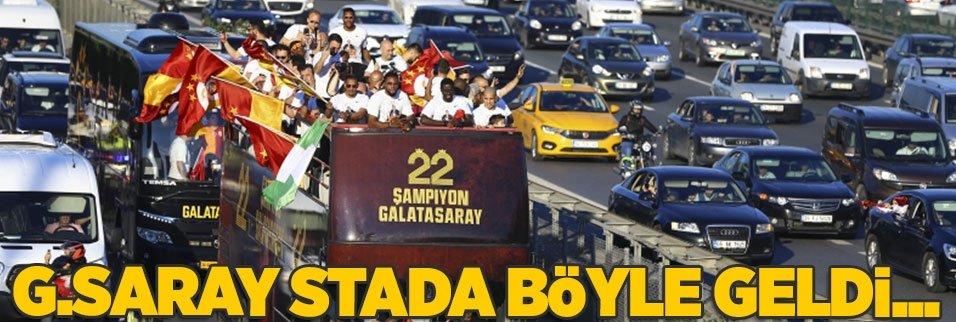 Galatasaray stada böyle geldi!