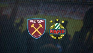 West Ham United - Rapid Wien maçı saat kaçta hangi kanalda?