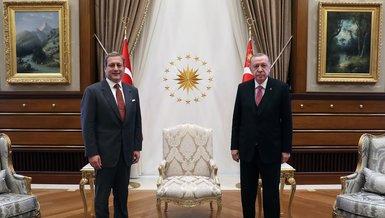 Başkan Recep Tayyip Erdoğan Galatasaray Başkanı Burak Elmas'ı kabul etti